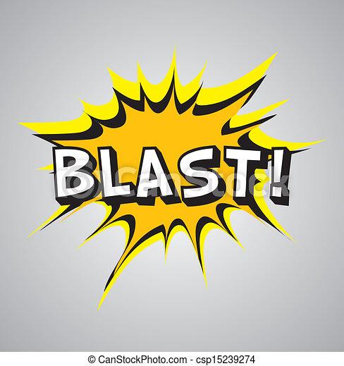 Comic book explosion bubble - blast - csp15239274
