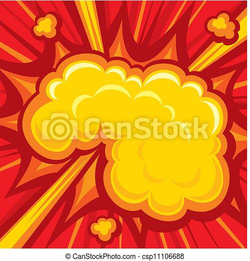 Comic Book Explosion - csp11106688
