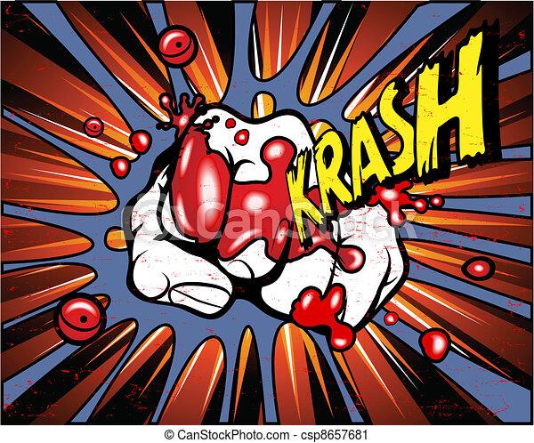 Comic book - iron fist - csp8657681