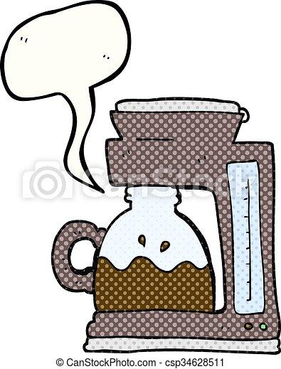 Comic Book Speech Bubble Cartoon Coffee Filter Machine