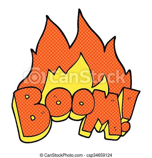 comic book style cartoon boom - csp34659124