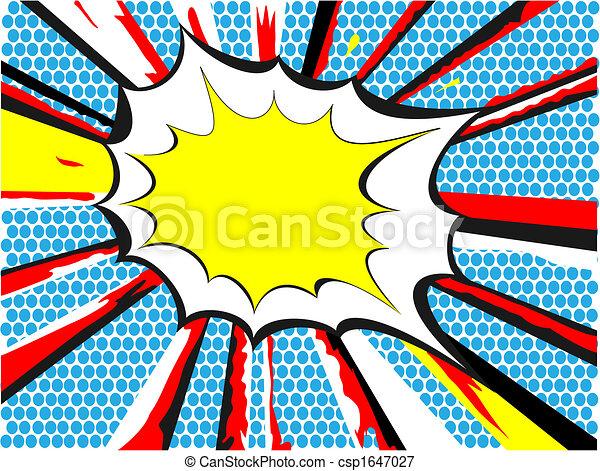 comic book style exlposion - csp1647027