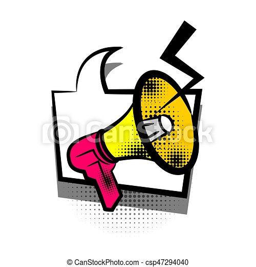 comic book text bubble advertising megaphone lettering eps rh canstockphoto ca  advertising clip art cd