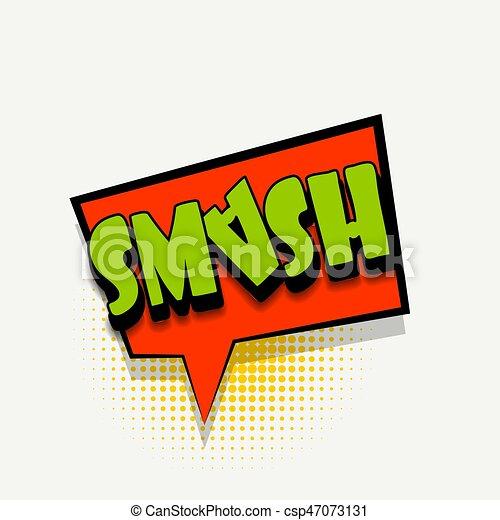 comic book text bubble template smash lettering smash comics book
