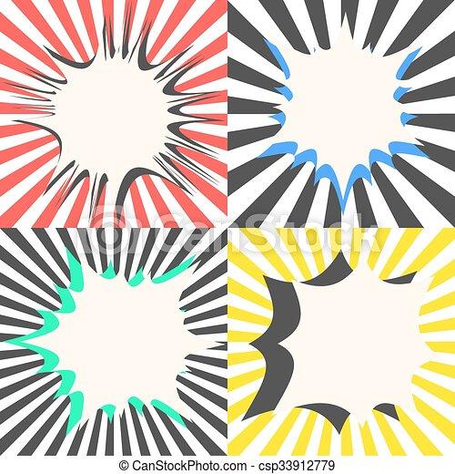 comic book vector bubble effects set sunburst ray vectors rh canstockphoto com vector sunburst photoshop vector sunburst free download