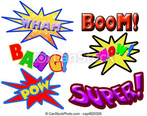 vector illustration of comic book words rh canstockphoto ca comic book illustrator vector comic book vector art free
