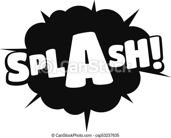 Line Art Illustration Style : Comic boom splash icon simple black style. vectors