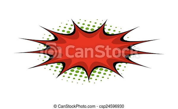 Line Drawing Vector Graphics : Abstract retro red comic burst banner vector graphic vectors