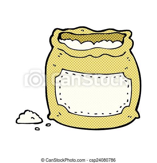 comic cartoon bag of flour - csp24080786