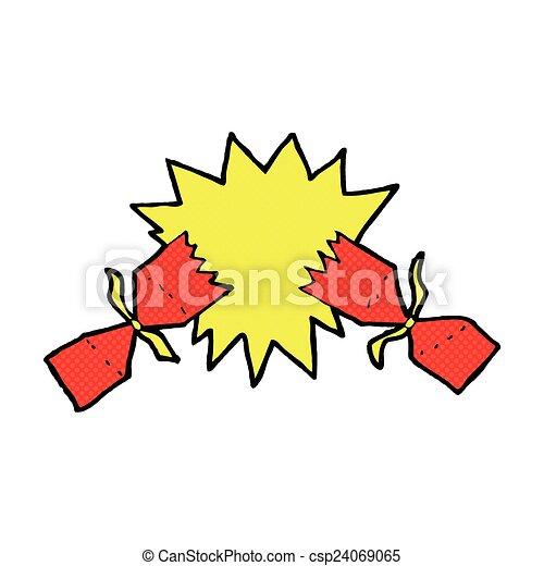comic cartoon christmas cracker - csp24069065