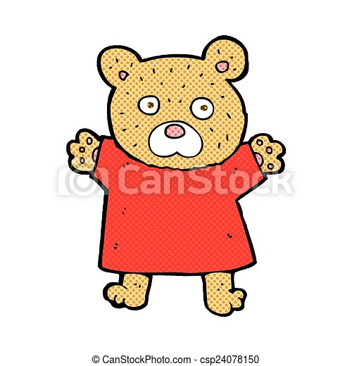 comic cartoon cute teddy bear - csp24078150