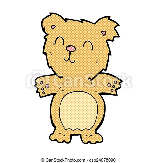 comic cartoon cute teddy bear - csp24078090