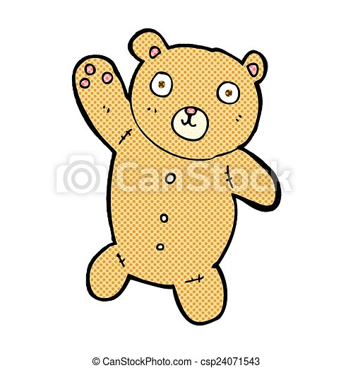 comic cartoon cute teddy bear - csp24071543