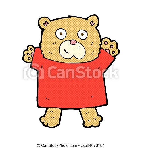 comic cartoon cute teddy bear - csp24078184