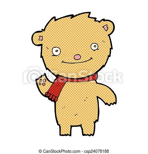 comic cartoon cute teddy bear - csp24078188