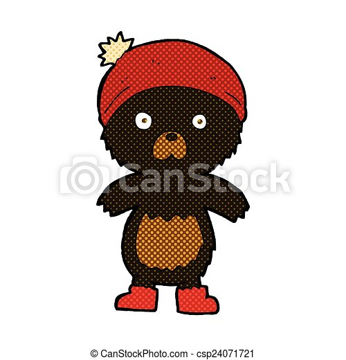 comic cartoon cute teddy bear - csp24071721