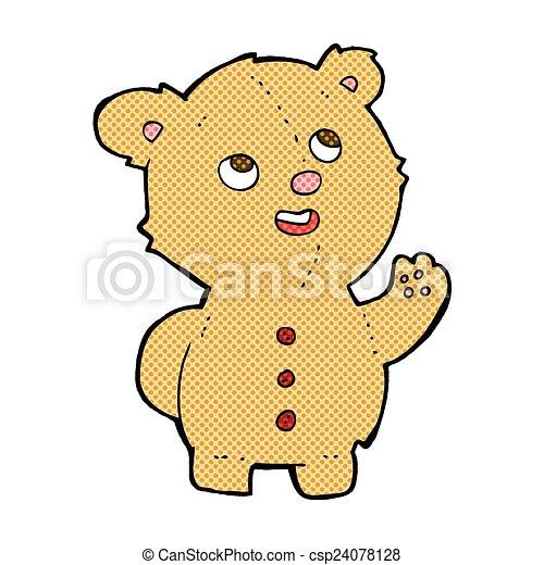 comic cartoon cute teddy bear - csp24078128