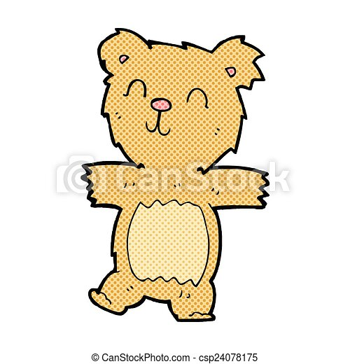 comic cartoon cute teddy bear - csp24078175