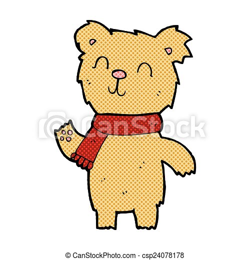 comic cartoon cute teddy bear - csp24078178