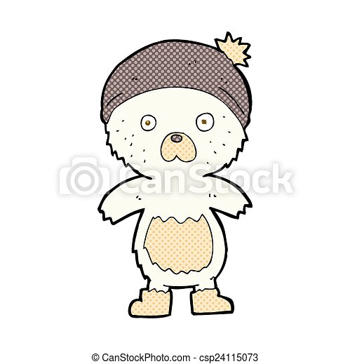 comic cartoon cute teddy bear - csp24115073