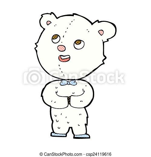 comic cartoon cute teddy bear - csp24119616