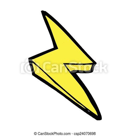 comic cartoon lightning bolt symbol retro comic book style eps rh canstockphoto com lightning bolt cartoon drawing lightning bolt cartoon black and white