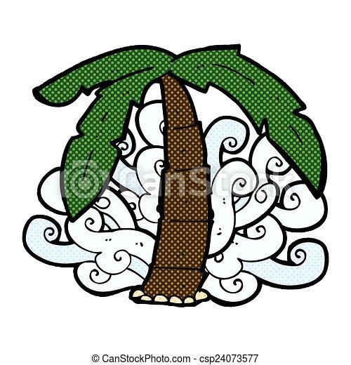 Comic Cartoon Palm Tree Symbol