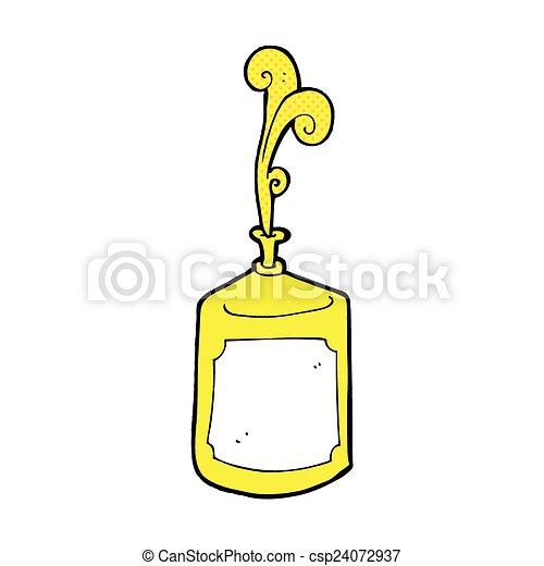comic cartoon squirting mustard bottle - csp24072937