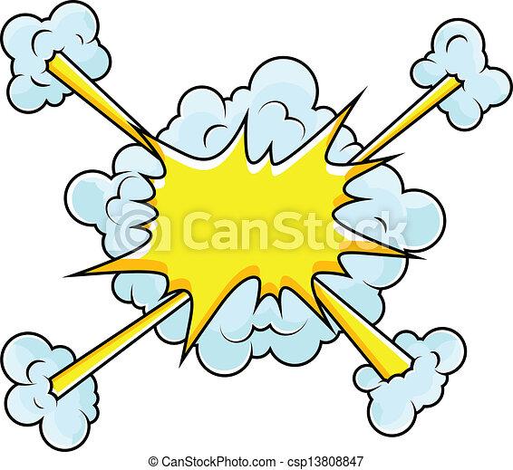 Comic Clouds Blast Vector - csp13808847