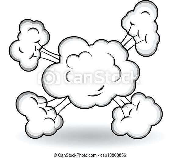 Comic Clouds Explosion Vector  - csp13808856