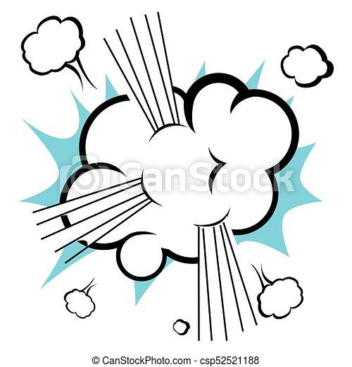 Comic explosion cloud - csp52521188