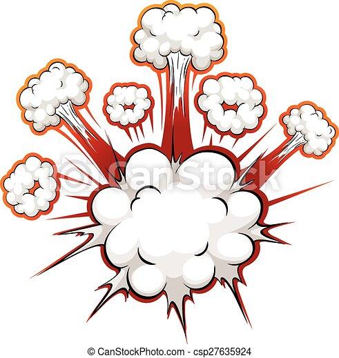 Comic explosion - csp27635924