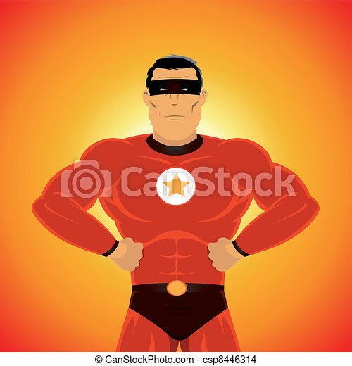 Comic-like Super-Hero - csp8446314