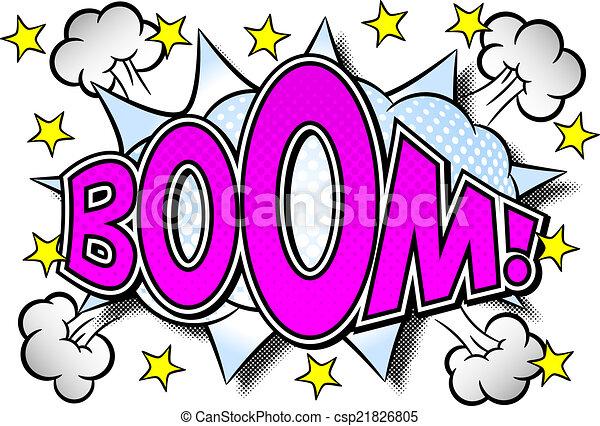 comic sound effect boom - csp21826805