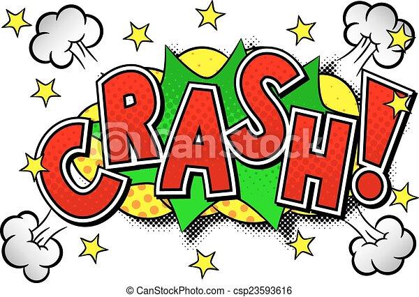 comic sound effect crash - csp23593616