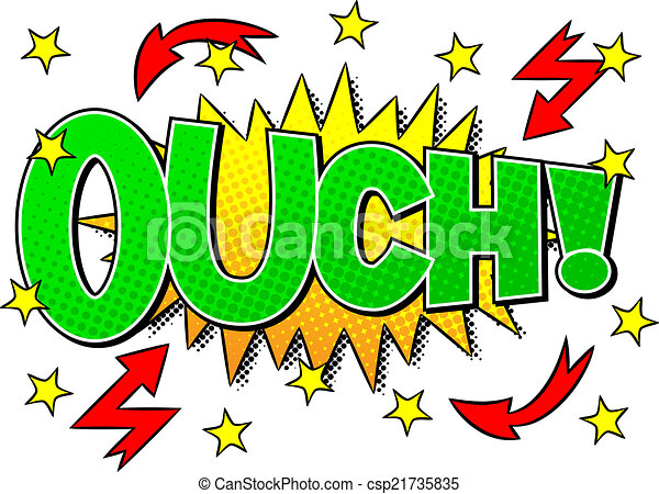 vector illustration of a comic sound effect ouch vectors search rh canstockphoto com clipart sound clip art sounds free downloads microsoft
