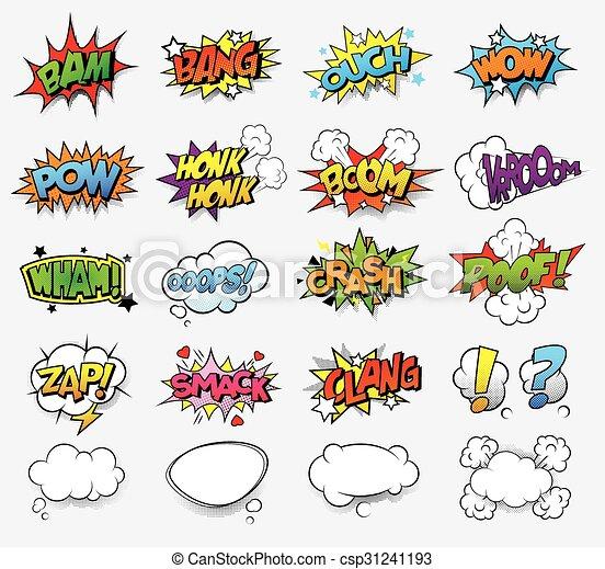 Comic sound effects - csp31241193