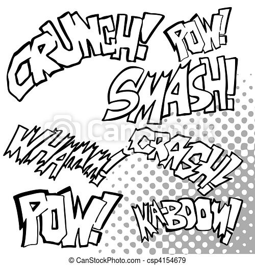 Comic Sound Effects - csp4154679