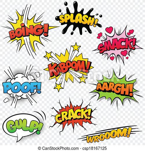 Comic Sound Effects set2 - csp18167125