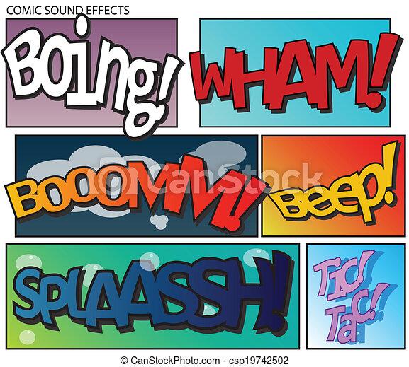 Comic sound effects - csp19742502