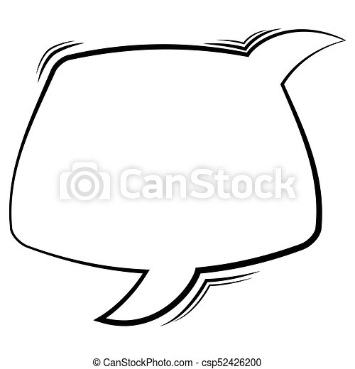 comic speech bubble isolated on white background vector vector rh canstockphoto co uk comic speech bubble vector free comic speech bubble vector free