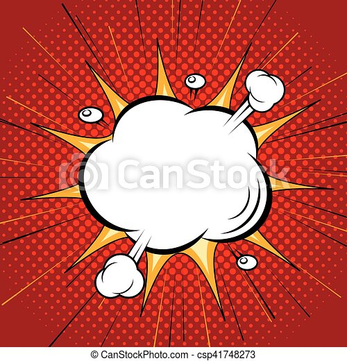 Comic speech cloud bubble - csp41748273