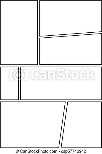 Comic Storyboard Layout 23 Manga Storyboard Layout Template Eps