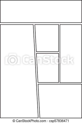Comic Storyboard Template Layout Manga Storyboard Layout Template