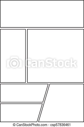 Comic Storyboard With Six Grid Layout Manga Storyboard Layout