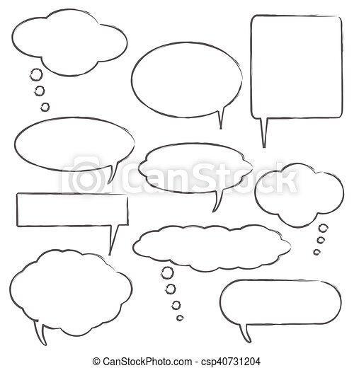 Comic style chat bubbles - csp40731204