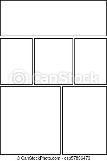 comic book layout paper