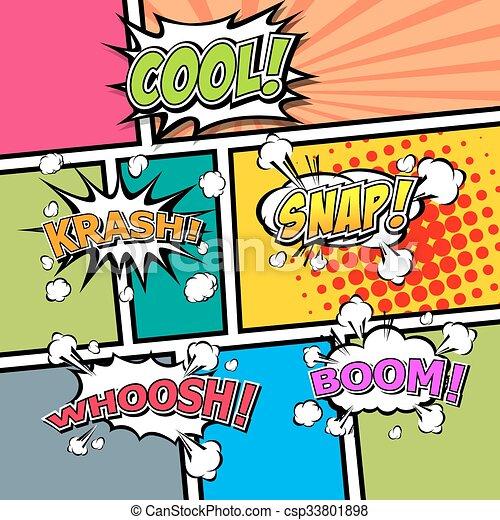 comic template vector pop art illustrator eps 10