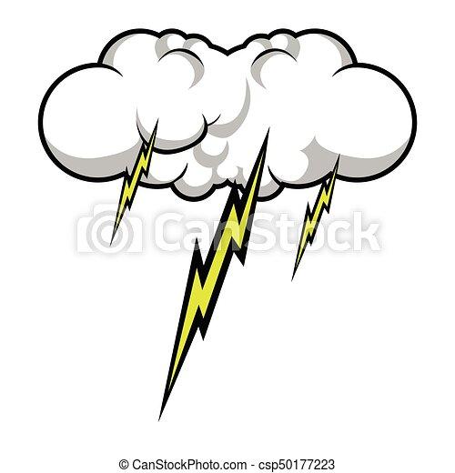 Comic thunder storm - csp50177223