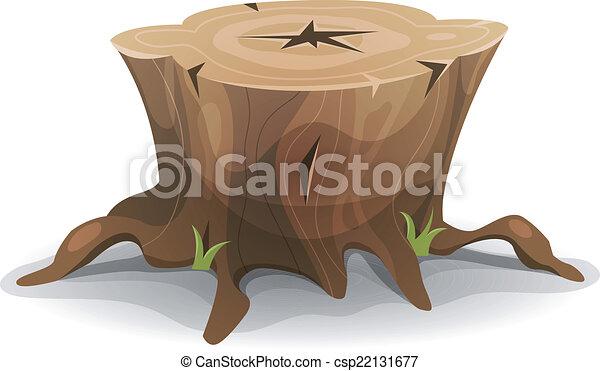 Comic Tree Stump - csp22131677